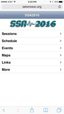 SSA 2016 Mobile App