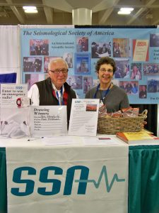 Bill Rinehart and Susan Newman at AGU in 2012.