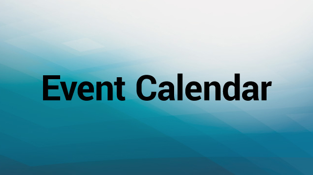 Event Calendar Text Graphic