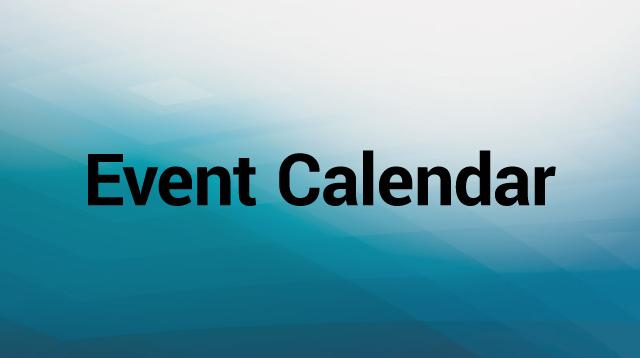 Event Calendar Text Graphic