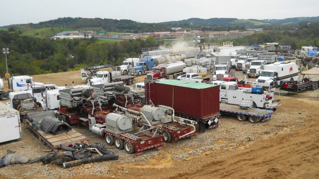 hydraulic fracturing site in southwestern Pennsylvania