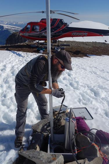 Alaska seismometer installation