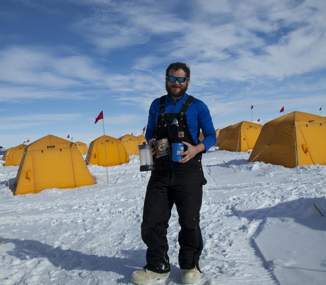 Esteban Chaves in Antarctica