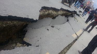 damage from Gorhka earthquake