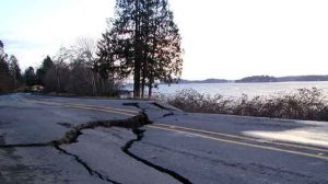 HWY 302 after Nisqually earthquake